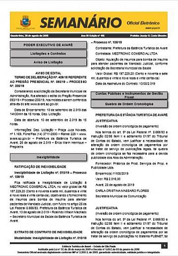 Semanário Oficial - Ed. 416