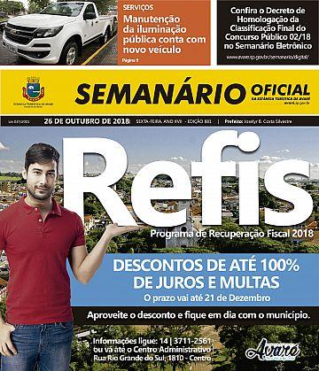 Semanário Oficial - Ed. 881
