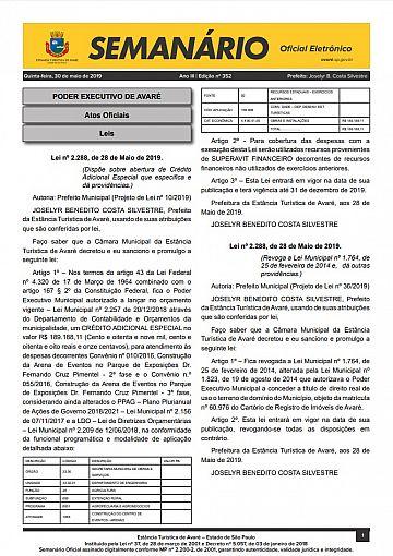 Semanário Oficial - Ed. 352