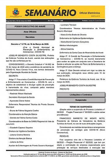 Semanário Oficial - Ed. 588