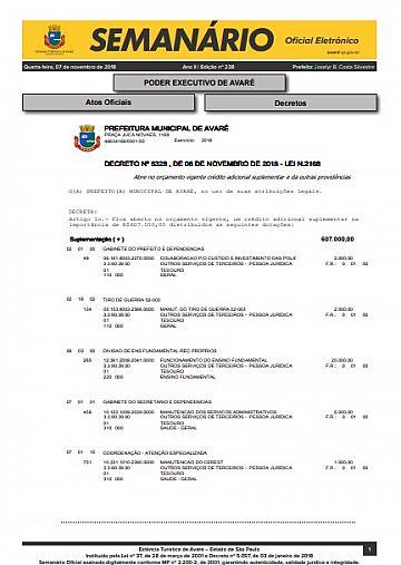 Semanário Oficial - Ed. 238