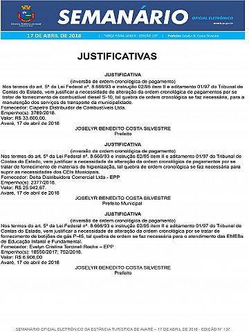 Semanário Oficial - Ed. 137