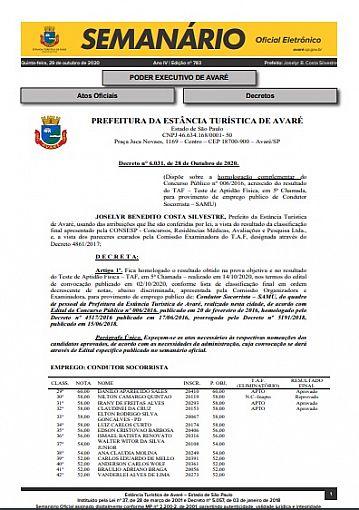 Semanário Oficial - Ed. 783