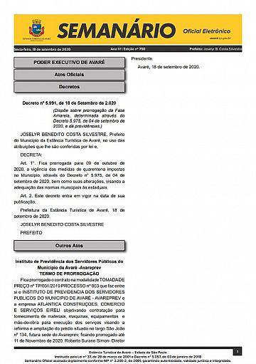Semanário Oficial - Ed. 750