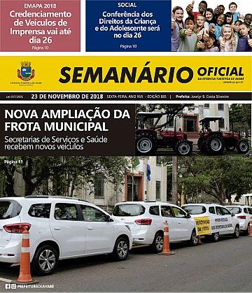 Semanário Oficial - Ed. 885