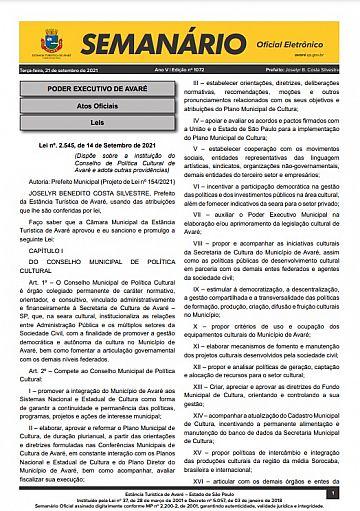 Semanário Oficial - Ed. 1072