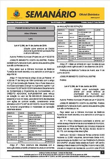 Semanário Oficial - Ed. 367