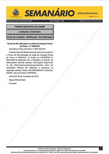 Semanário Oficial - Ed. 239