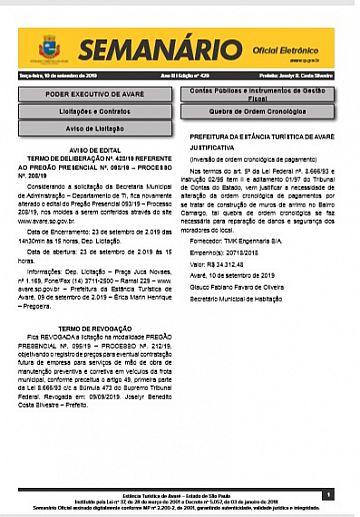 Semanário Oficial - Ed. 429