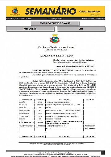 Semanário Oficial - Ed. 743