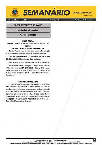 Semanário Oficial - Ed. 294