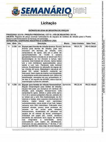 Semanário Oficial - Ed. 35