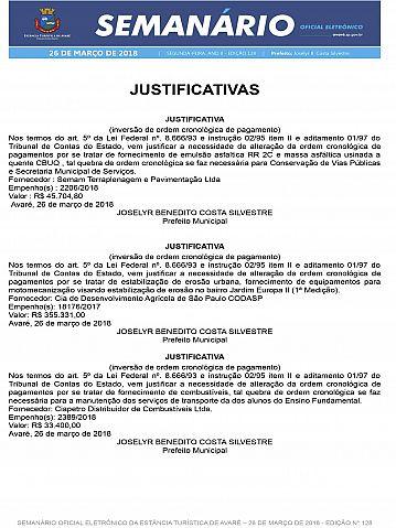 Semanário Oficial - Ed. 128