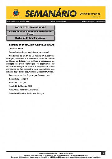 Semanário Oficial - Ed. 349