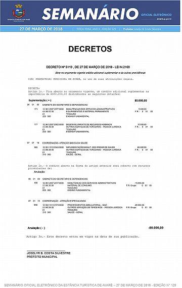 Semanário Oficial - Ed. 129