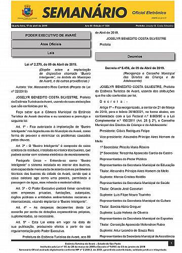Semanário Oficial - Ed. 324