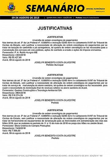 Semanário Oficial - Ed. 189