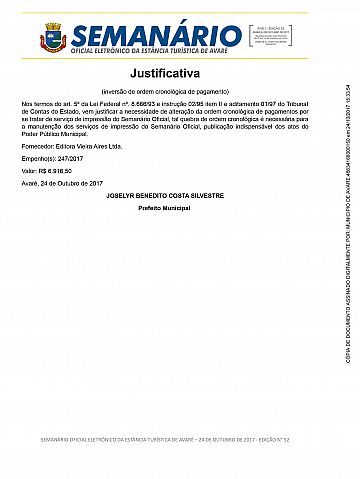 Semanário Oficial - Ed. 52