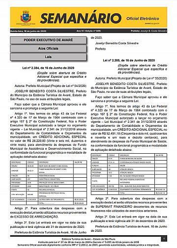 Semanário Oficial - Ed. 655