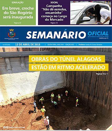 Semanário Oficial - Ed. 853