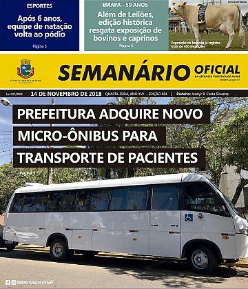 Semanário Oficial - Ed. 884