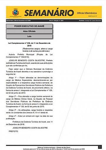 Semanário Oficial - Ed. 265