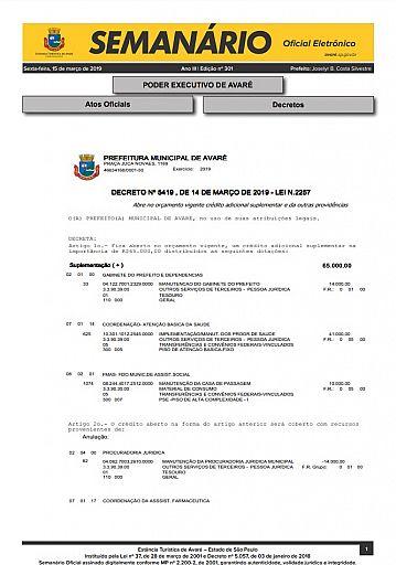 Semanário Oficial - Ed. 301