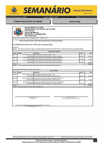 Semanário Oficial - Ed. 670
