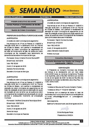 Semanário Oficial - Ed. 412