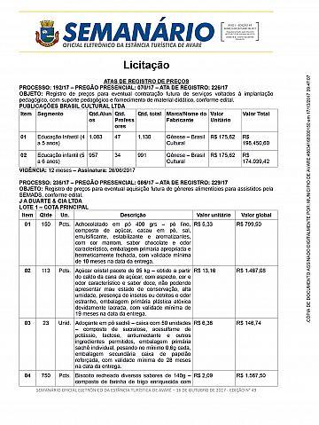 Semanário Oficial - Ed. 49