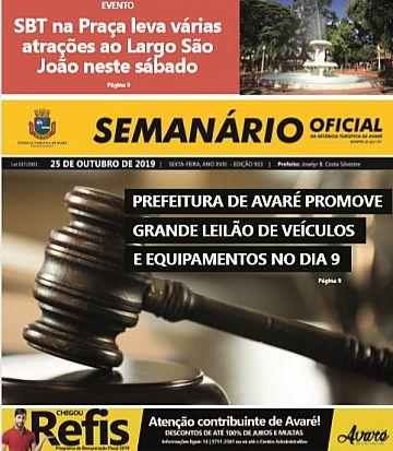 Semanário Oficial - Ed. 933