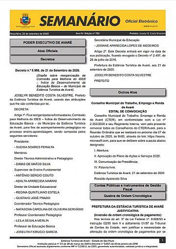 Semanário Oficial - Ed. 753