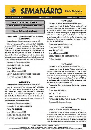 Semanário Oficial - Ed. 635