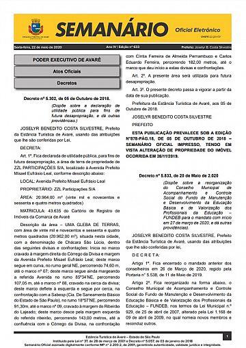 Semanário Oficial - Ed. 633
