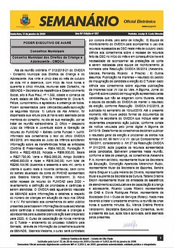 Semanário Oficial - Ed. 537