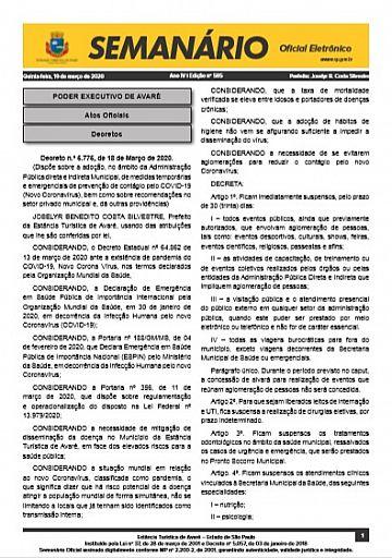 Semanário Oficial - Ed. 585