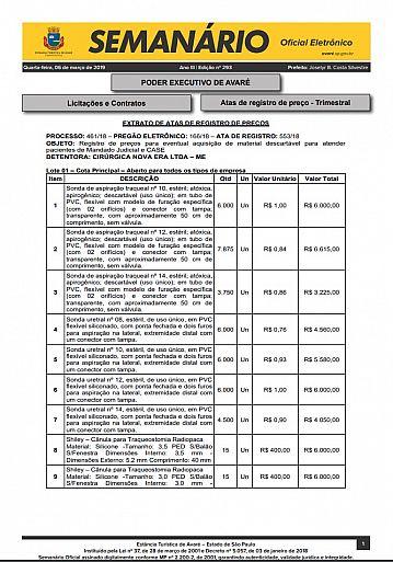 Semanário Oficial - Ed. 293