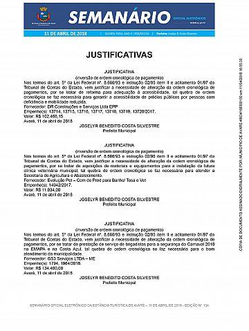 Semanário Oficial - Ed. 134