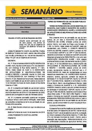 Semanário Oficial - Ed. 506