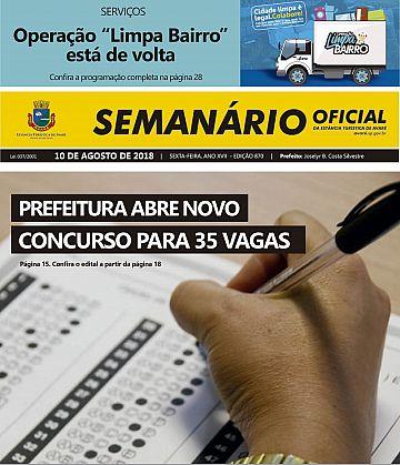 Semanário Oficial - Ed. 870