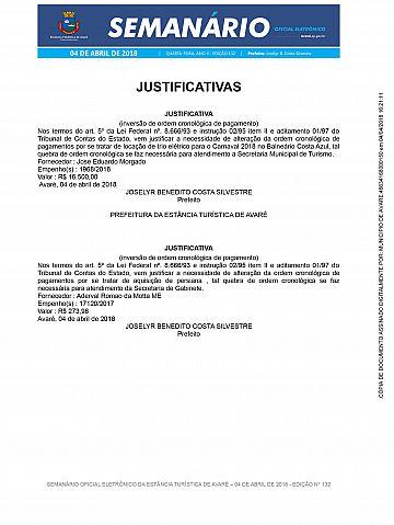 Semanário Oficial - Ed. 132