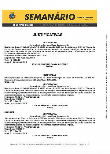 Semanário Oficial - Ed. 148