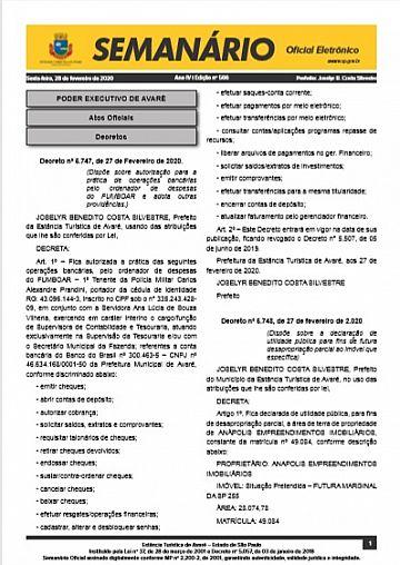 Semanário Oficial - Ed. 566