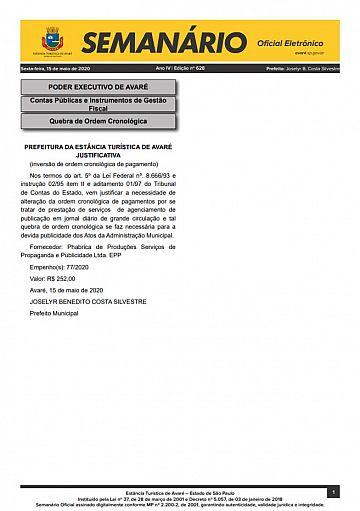 Semanário Oficial - Ed. 628