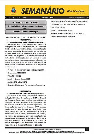 Semanário Oficial - Ed. 748