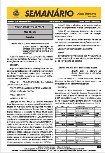 Semanário Oficial - Ed. 515