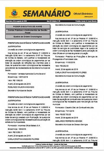 Semanário Oficial - Ed. 411