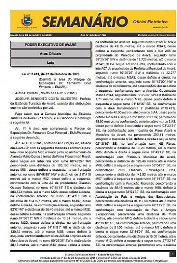 Semanário Oficial - Ed. 768