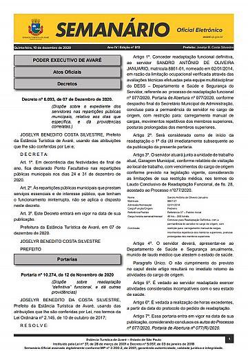 Semanário Oficial - Ed. 813