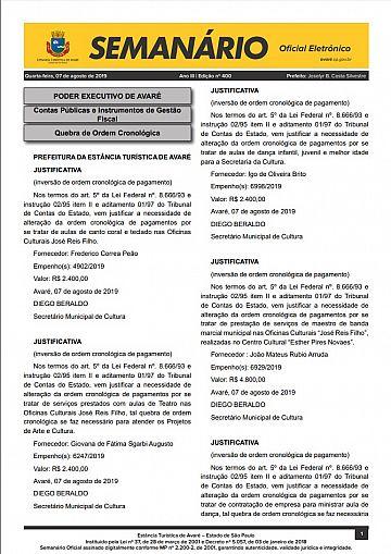 Semanário Oficial - Ed. 400